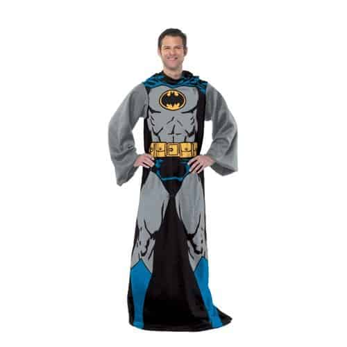 A soft throw blanket looking like Batman suit - funny gifts for brother's man cave