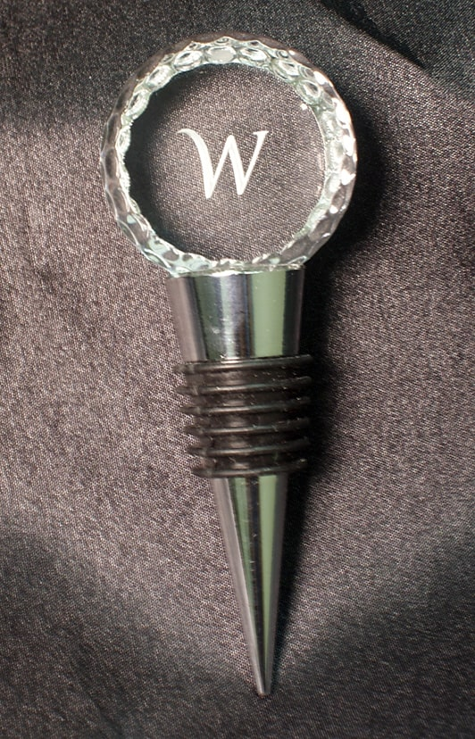golf accessories gifts:custom golf ball wine stopper