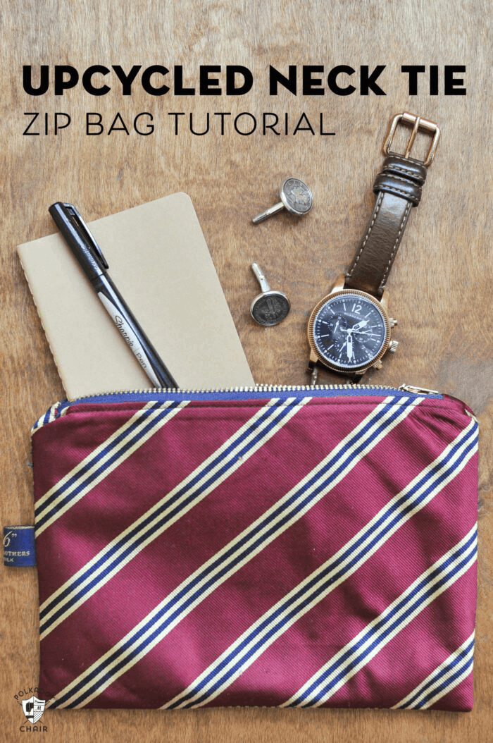 DIY necktie bags for your brother on his birthday