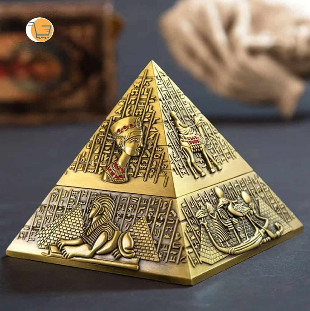 An ashtray that looks like egyptian pyramid - a man cave gift