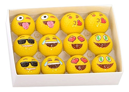 funny golf accessories: emoji balls