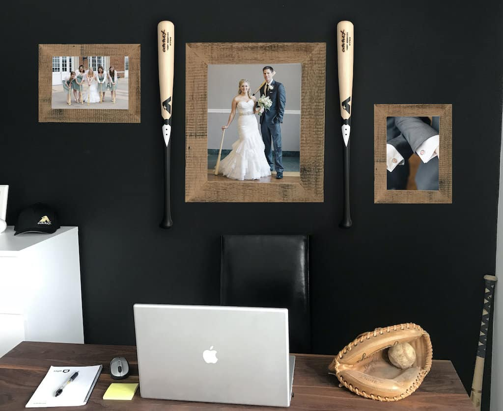 Engraved Baseball Bat For Best Man Hanging On The Wall