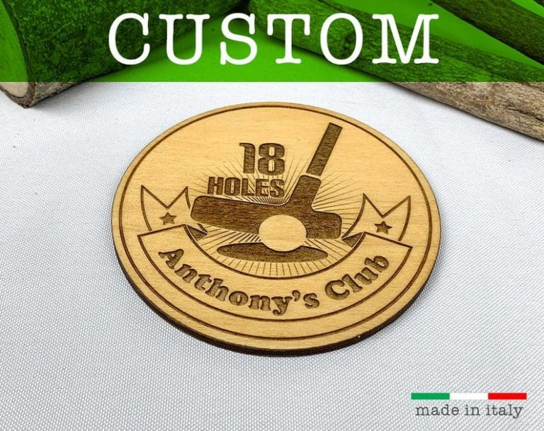golf gifts for him: engraved custom coaster