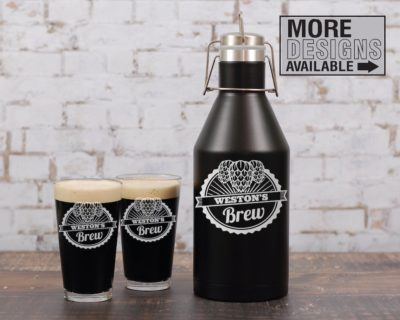 Engraved Insulated Growler - Best Man Gift For Beer Lover