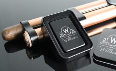 Engraved lighter with initial of the best man