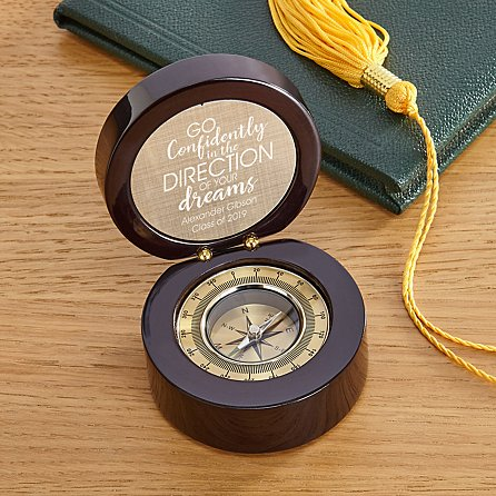 gifts for college guys:Find Your Way Graduation Compass