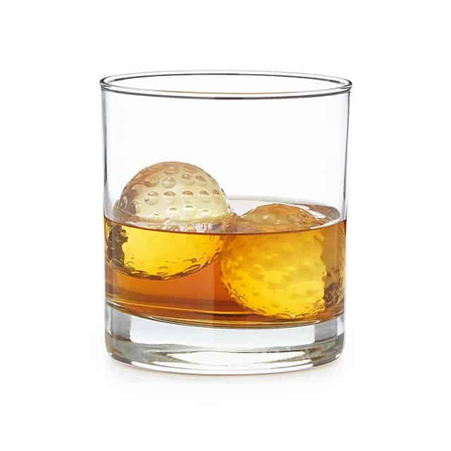 best gift for golfers: golf ball whiskey chillers