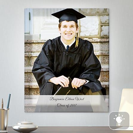 college gifts ideas:Graduation Photo Lighted Canvas