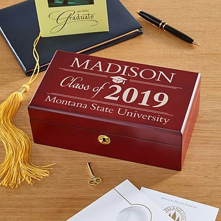 college gifts:Mention: cheap present Graduation Wood Keepsake Box