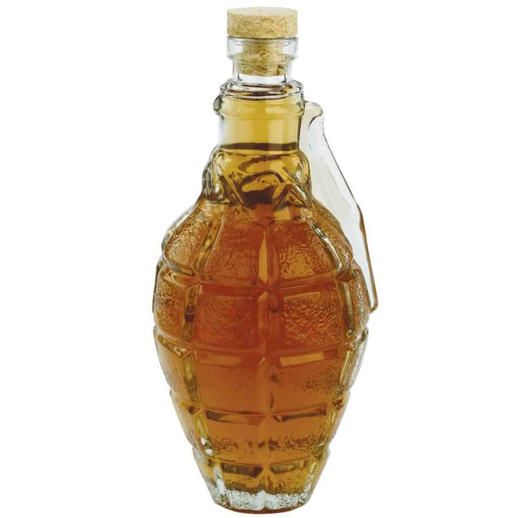 Grenade Decanter with Cork Stopper - Cool Man Cave Gift