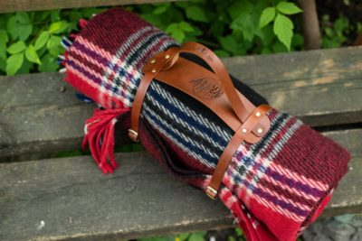 Handmade Leather Blanket Strap - Practical Gift For A Best Man