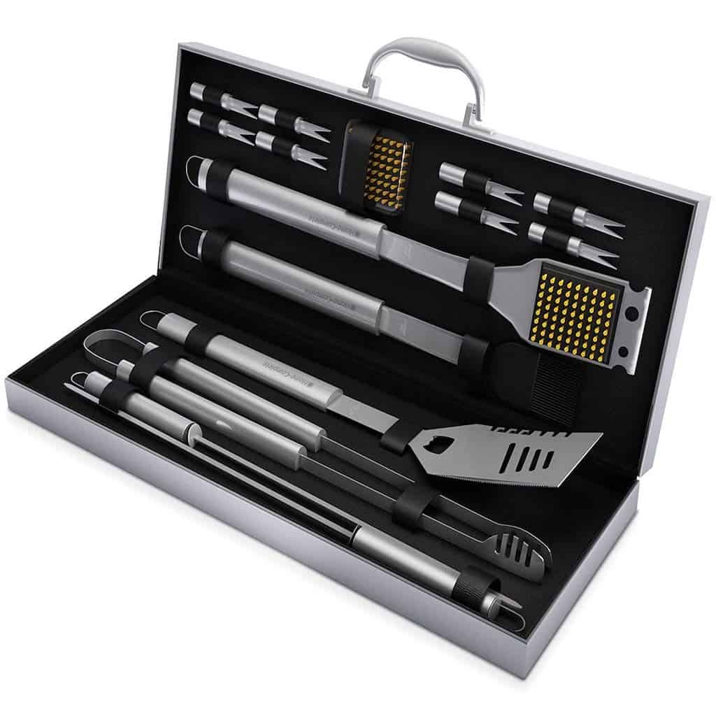 Home-Complete BBQ Grill Tool Set - Kitchen Gift For Brother On Christmas