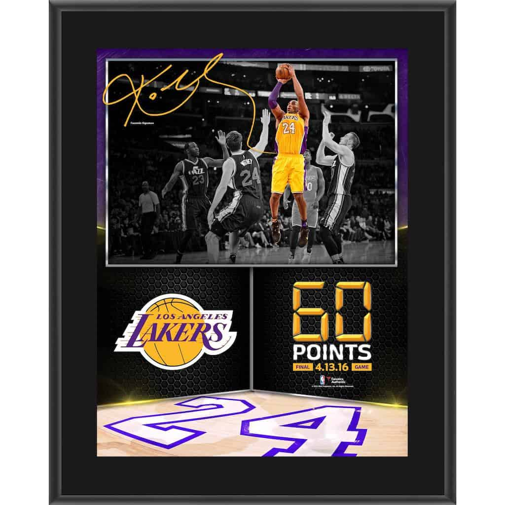 Kobe Bryant - Sublimated Plaque - Cool Man Cave Gifts