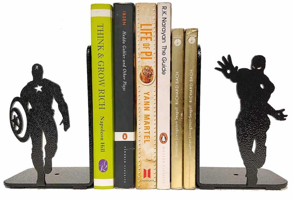 Marvel Bookend - Cool Gift For A Man Cave's Bookshelf