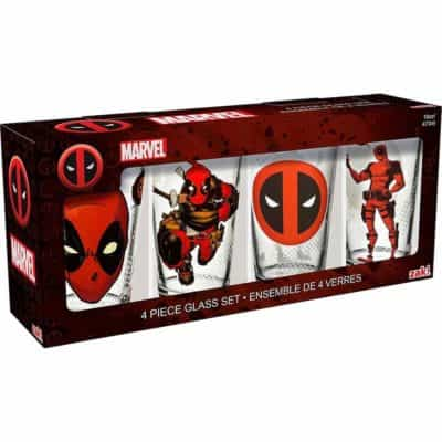 Marvel Comics Set of 4 Pint Glasses - Deadpool