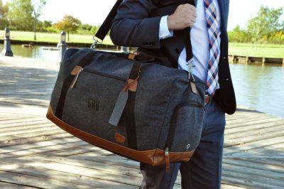 Monogrammed Duffel Bag For Best Man