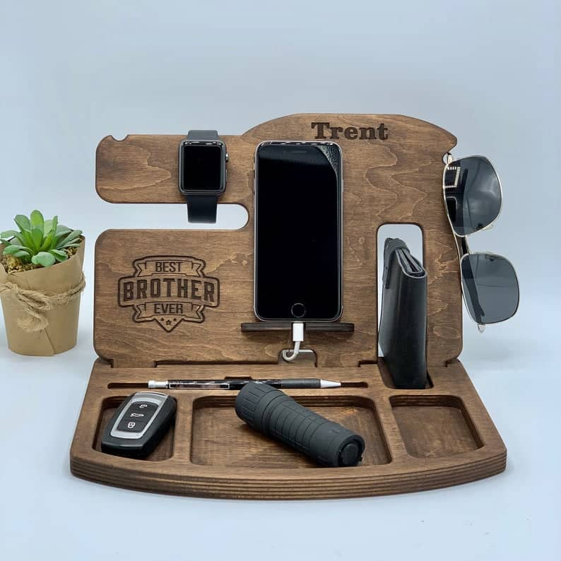 Monogrammed Universal Docking Station - Gift For Brother