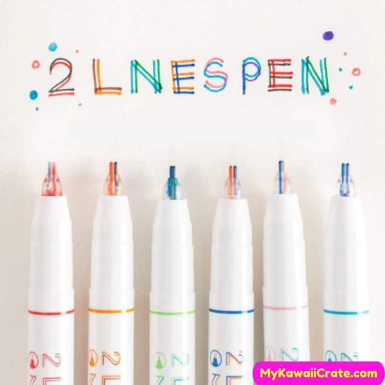 Creative Double Line Dual Color Pen