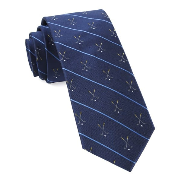 unique golf gifts for him:golf club striple navy tie