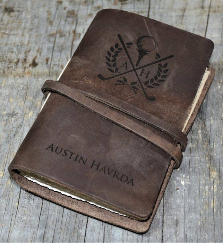 golf gift: personalized engraved diary