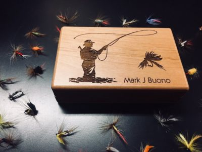 Personalized Fly Fishing Box For Angler Best Man
