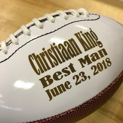 Personalized Football - Best Man Gift