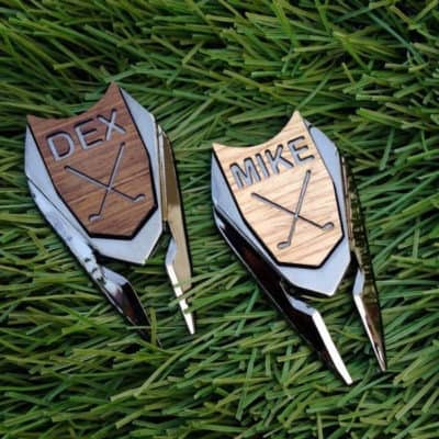 Personalized Golf Ball Marker Divot Tool - Gift For Best Man