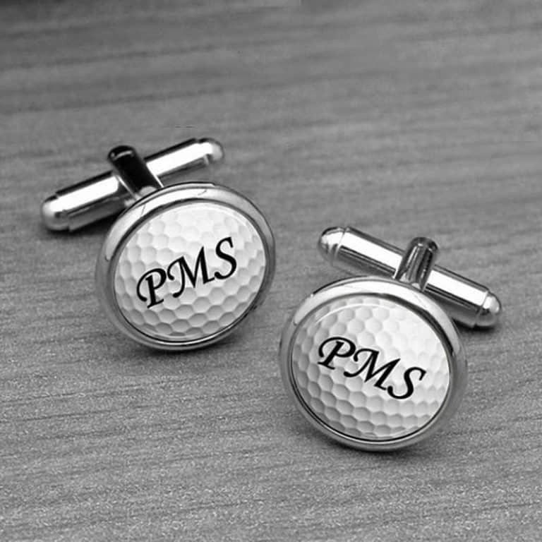 Personalized Golfing Initial Cufflinks
