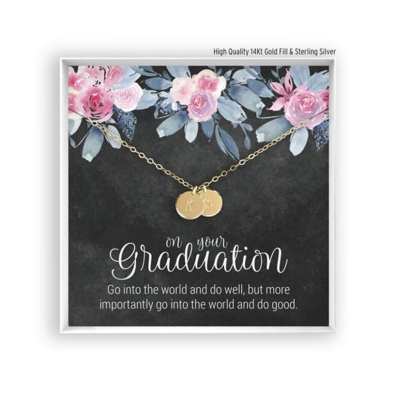 gifts for college students: Personalized Graduation Bracelet