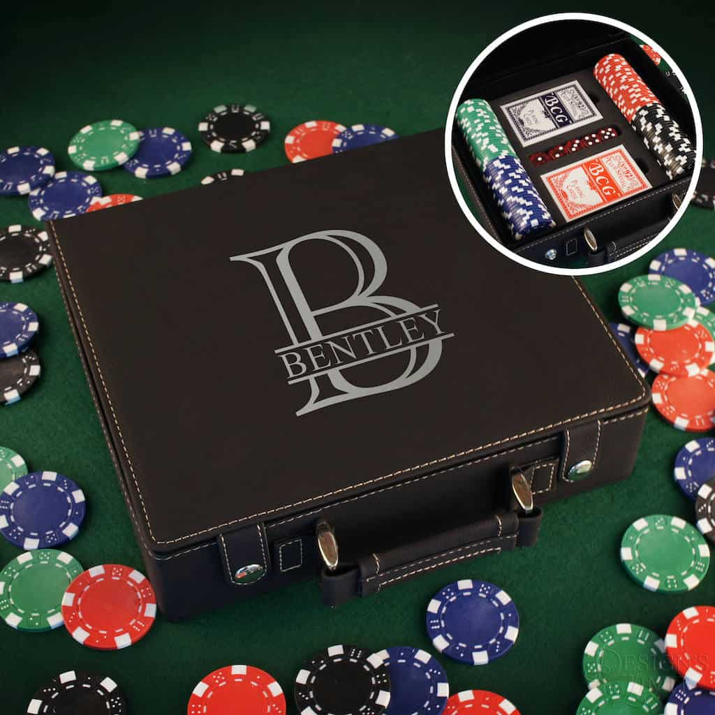 Personalized Poker Gift Set For Brother - Man Cave Gifts