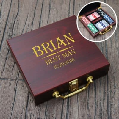 Personalized Poker Set For Best Man