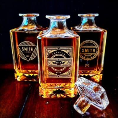 Personalized Whiskey Decanter Set - Best Man Gift