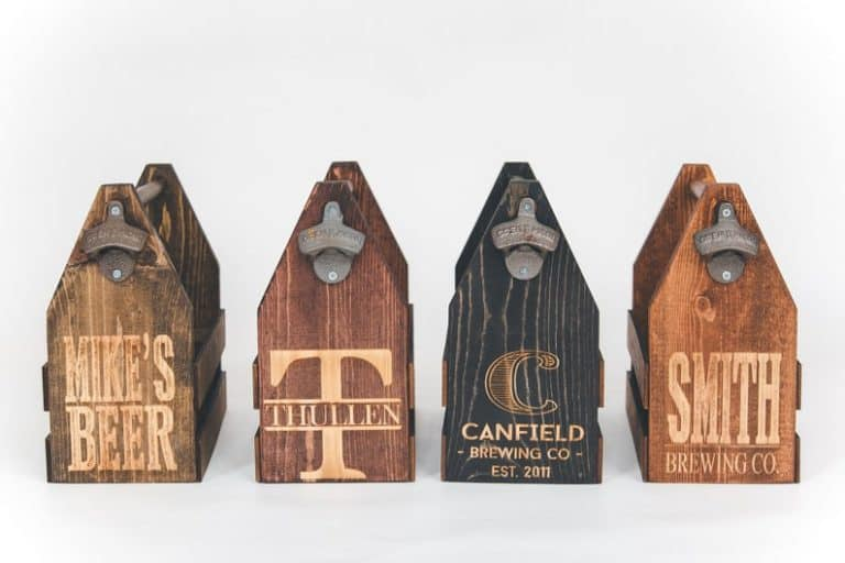 personalized fathers day gifts - personalized beer caddy