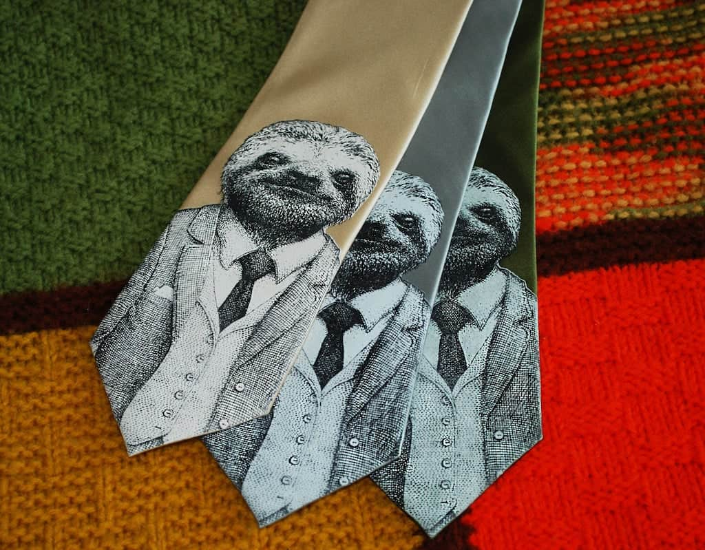 Sloth Necktie For Stylish Brother