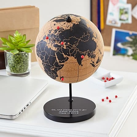 going to college gifts:The Places You'll Go Cork Globe