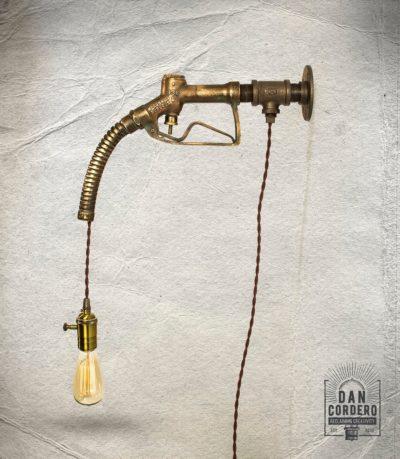 Vintage Gas Pump Nozzle Light Fixture