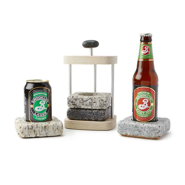 cool gift for dad: beer chilling coasters