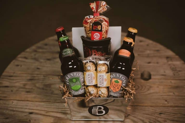 gifts for father: craft beer sampler gift basket