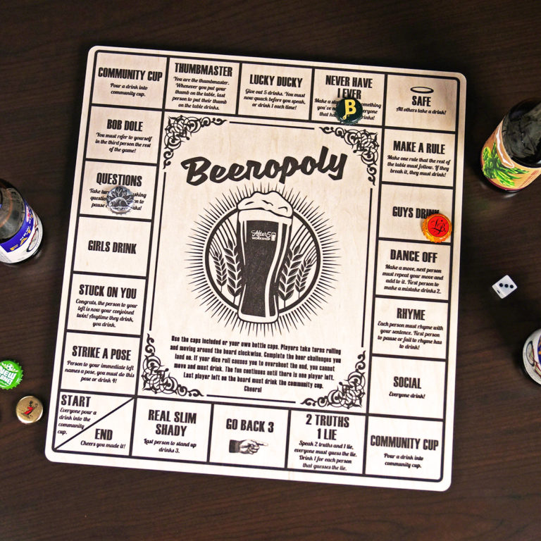 gifts for dad who has everything: beeropoly beer game