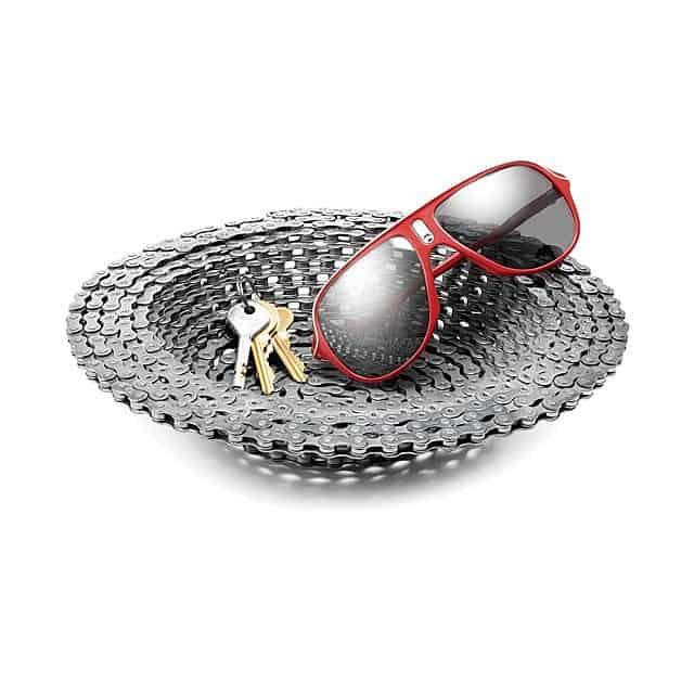 bike chain bowl as a man cave present