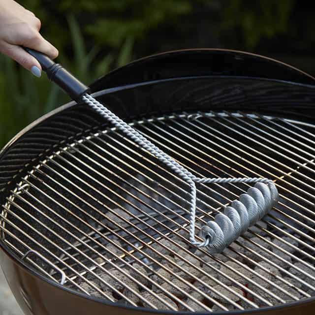 unique grilling tools: bristle free grill brush