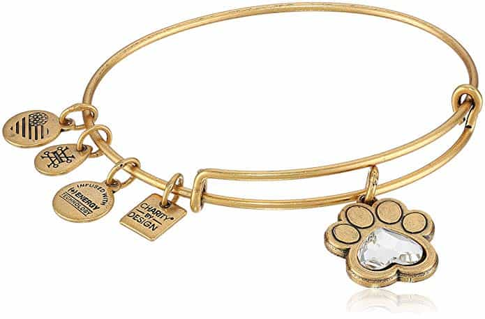 gift for dog moms: dog love charm bangle