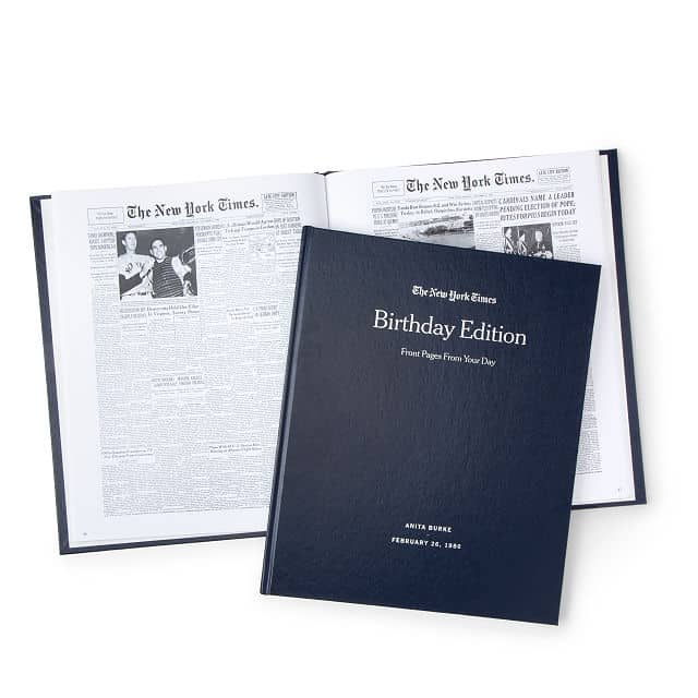 birthday gifts for dad: custom birthday book