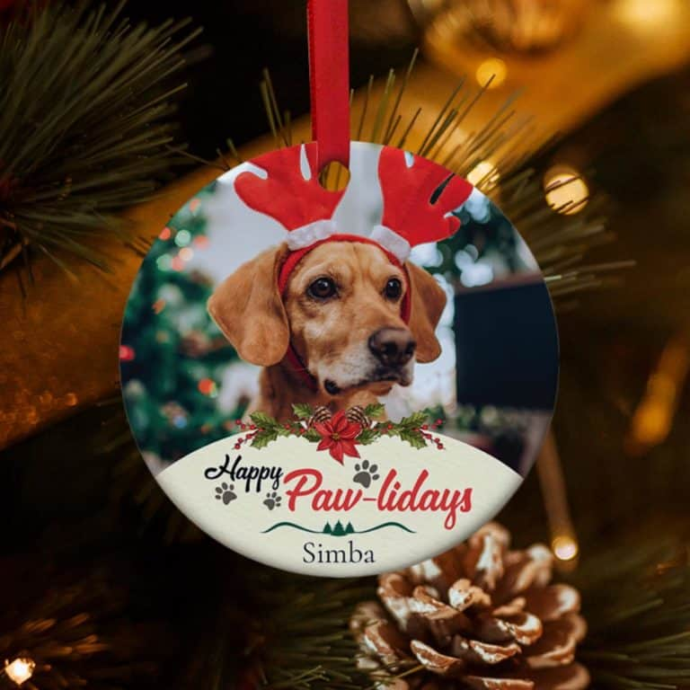 Personalized Dog Gifts: Personalized Dog Christmas Ornament