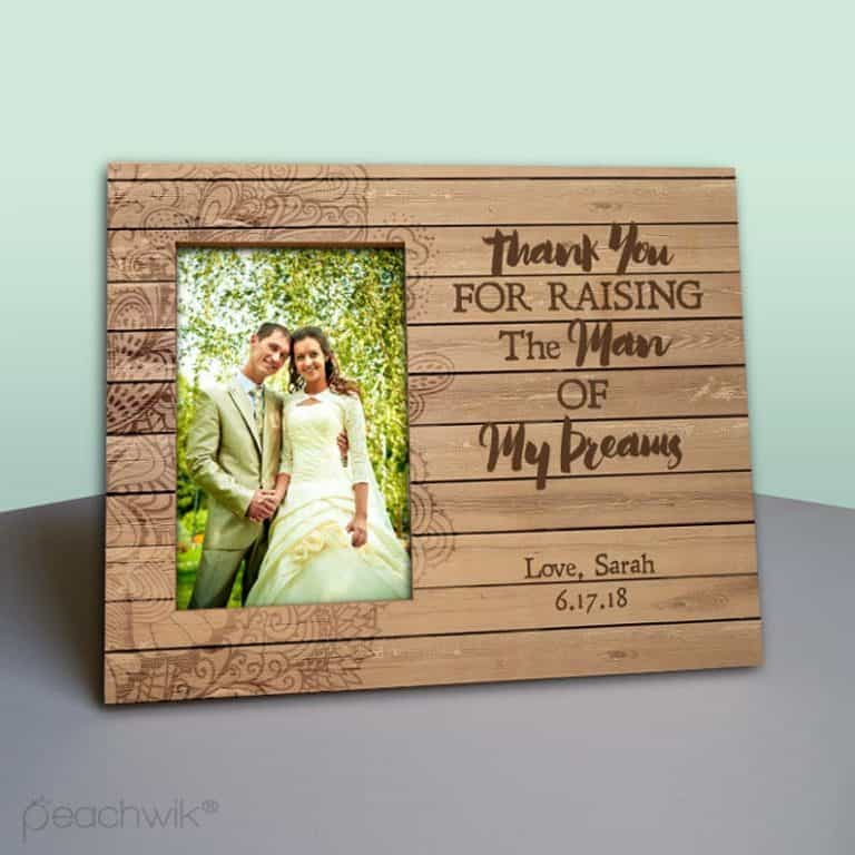 sentimental gift idea for father in law: personalized photo frame