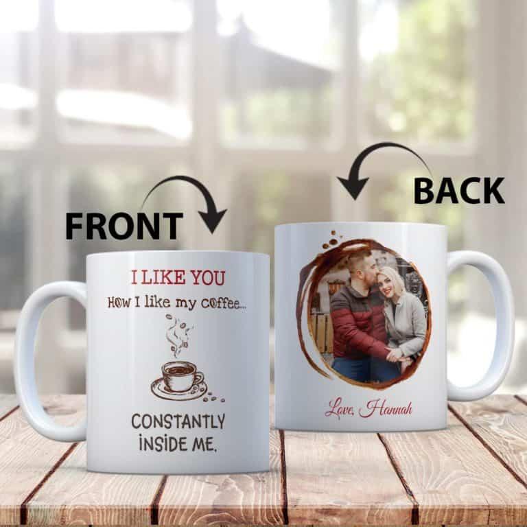 8th anniversary gifts for him: custom photo mug