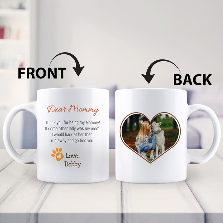 mother's day gift from dog: custom photo mug