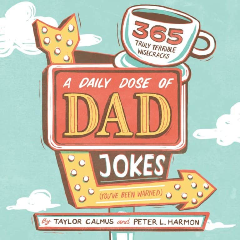 funny gifts for father in law: dad jokes book