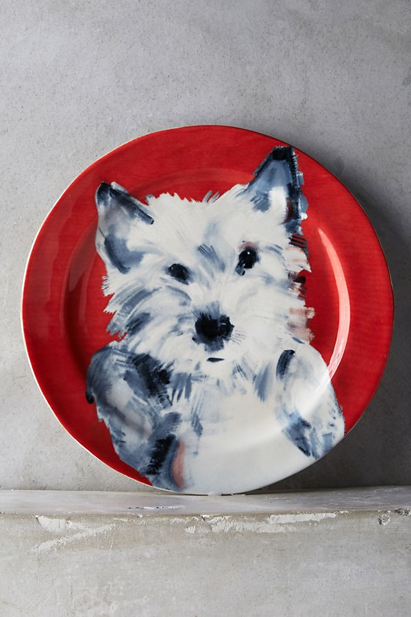 cute dog mom gifts: dog dessert plate