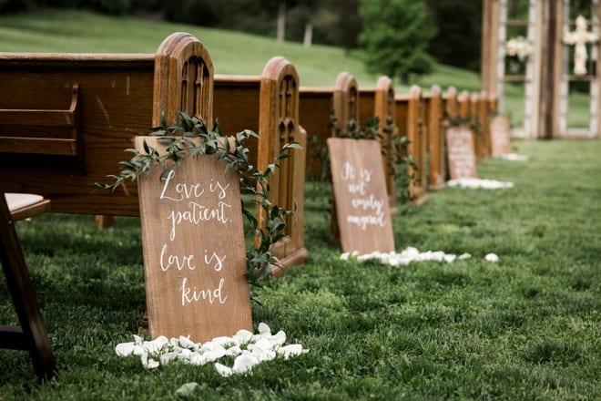 diy wedding aisle decor idea